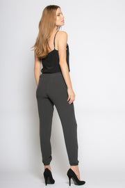 Black Tie Waist Skinny Pants by Lavender Brown 002
