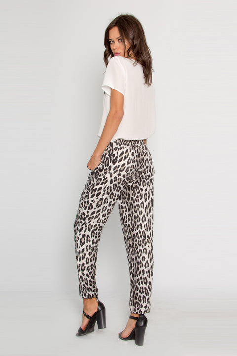 Snow Leopard Skinny Pull-On Pants by Lavender Brown 002