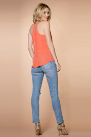 Mango Cupro Racerback Cami Tank Top by Lavender Brown 002