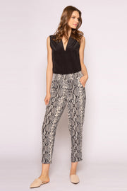 Black Snakeskin Pants by Lavender Brown 001