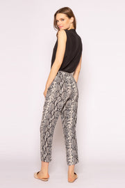 Black Snakeskin Pants by Lavender Brown 002