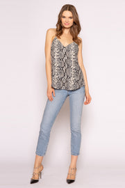 Black Snakeskin Cami Top by Lavender Brown 001