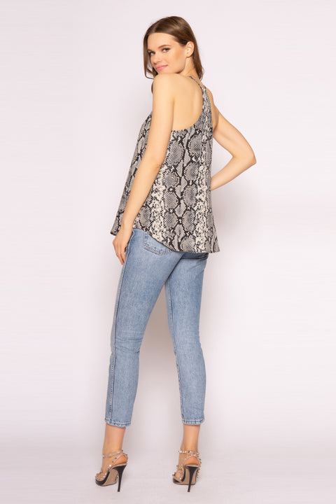Black Snakeskin Cami Top by Lavender Brown 002