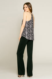 Black Snakeskin Print Cami Top by Lavender Brown 002
