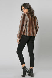 Brown Ombre Fur Jacket by Lavender Brown 002