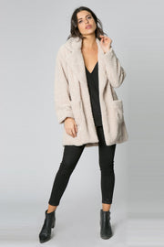 French Vanilla Sherpa Jacket by Lavender Brown 001