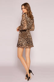 Brown Leopard Mini Dress by Lavender Brown 002