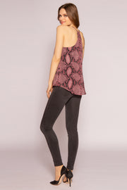 Burgundy Snakeskin Cami Top by Lavender Brown 002