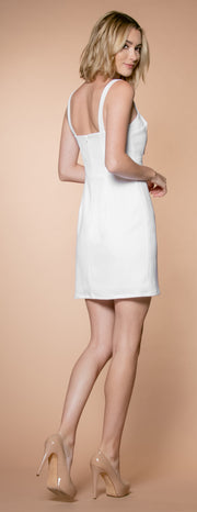 Ivory A-Line Keyhole Dress by Lavender Brown 002
