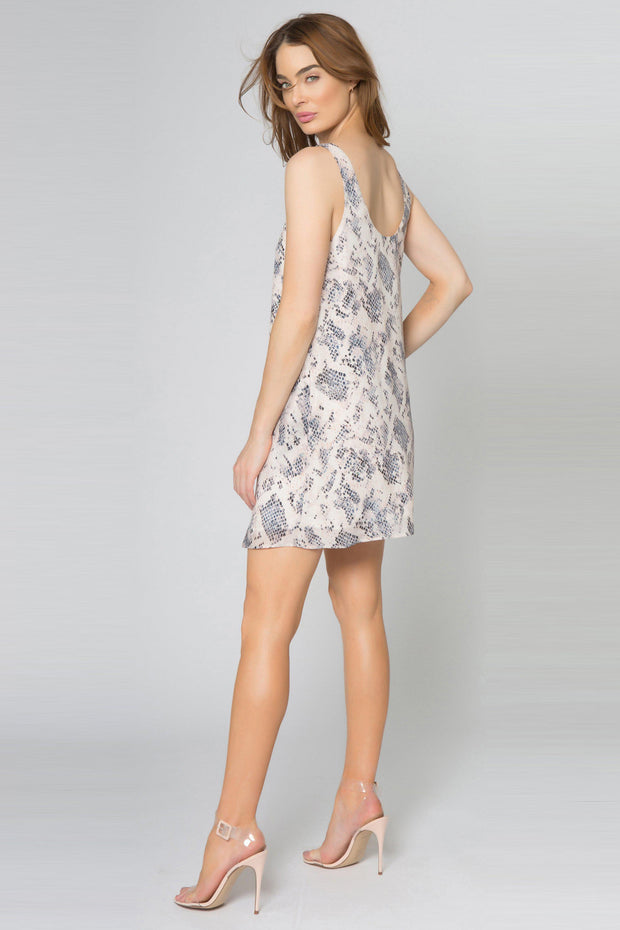 Blush Snakeskin Slip Dress by Lavender Brown 002