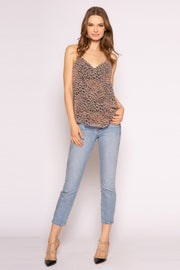 Brown Cheetah Cami Top by Lavender Brown 001