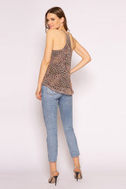 Brown Cheetah Cami Top by Lavender Brown 002