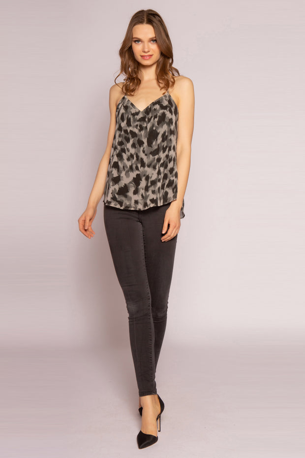 Olive Multi Cheetah Cami Top by Lavender Brown 001