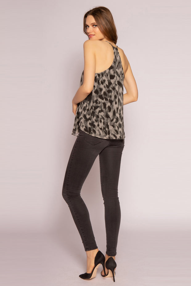 Olive Multi Cheetah Cami Top by Lavender Brown 002