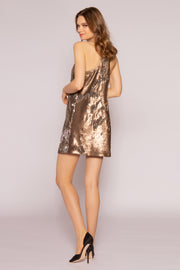 Two-Tone Sequin Mini Slip Dress by Lavender Brown 002