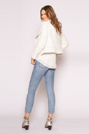 Ivory Asymmetrical Jacket by Lavender Brown 002