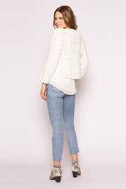 Ivory Open Front Jacket by Lavender Brown 002