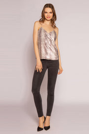 Gold Multi Snakeskin Cami Top by Lavender Brown 001