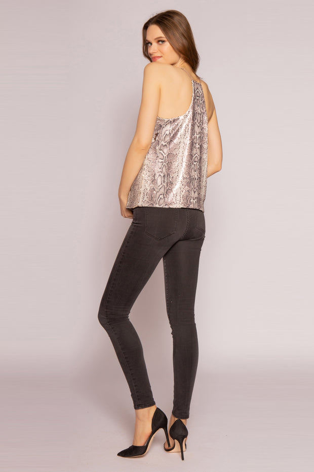 Gold Multi Snakeskin Cami Top by Lavender Brown 002