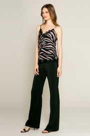Black Racerback Zebra Tank by Lavender Brown 001