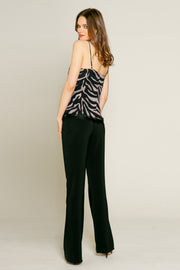 Black Racerback Zebra Tank by Lavender Brown 002