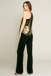 Gold Lurex Knit Tank by Lavender Brown 001