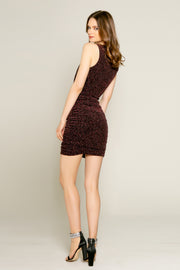 Pink Lurex Knit Bodycon Dress by Lavender Brown 002