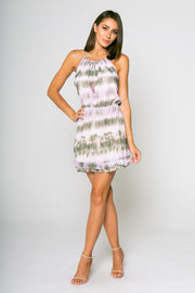 Tie Dye Mini Dress W/ Ruffle 01