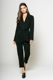 Long Sleeve Jacket Jumpsuit w/self Belt 1