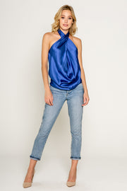 Silky Crossover Drappy Halter Top 1