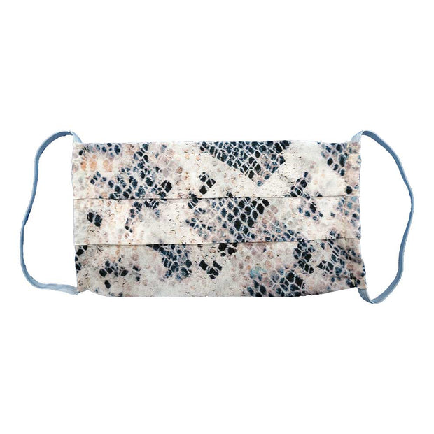 Printed Silk Non Medical Face Mask-Masks-Lavender Brown