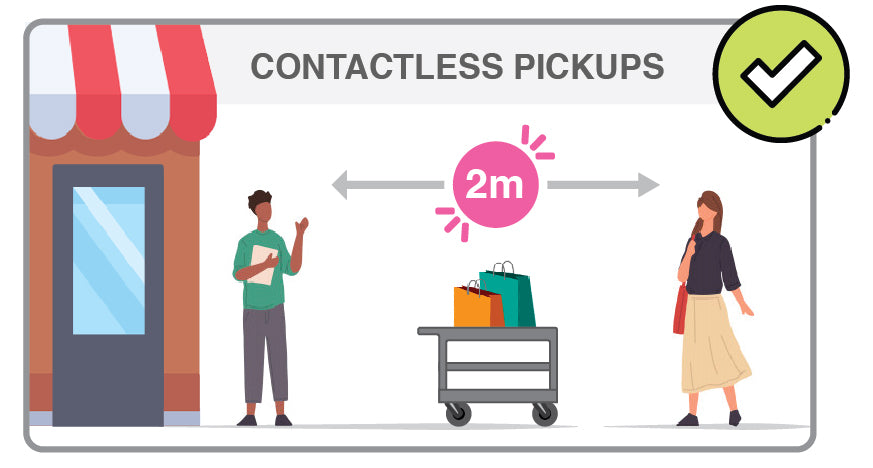 Contactless pickup. Remain 2m social distance when picking up your orders.