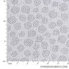"Quilt Backing Cotton 108"" - Swirls, Grey"