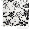 "Quilt Backing Flannel 108"" - Flower, White"