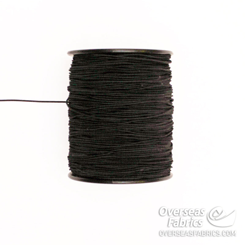 Round Elastic - Black, 1.5mm (1/24