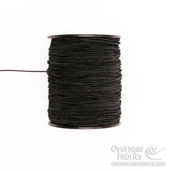 "Round Elastic - Black, 1.5mm (1/24"")"