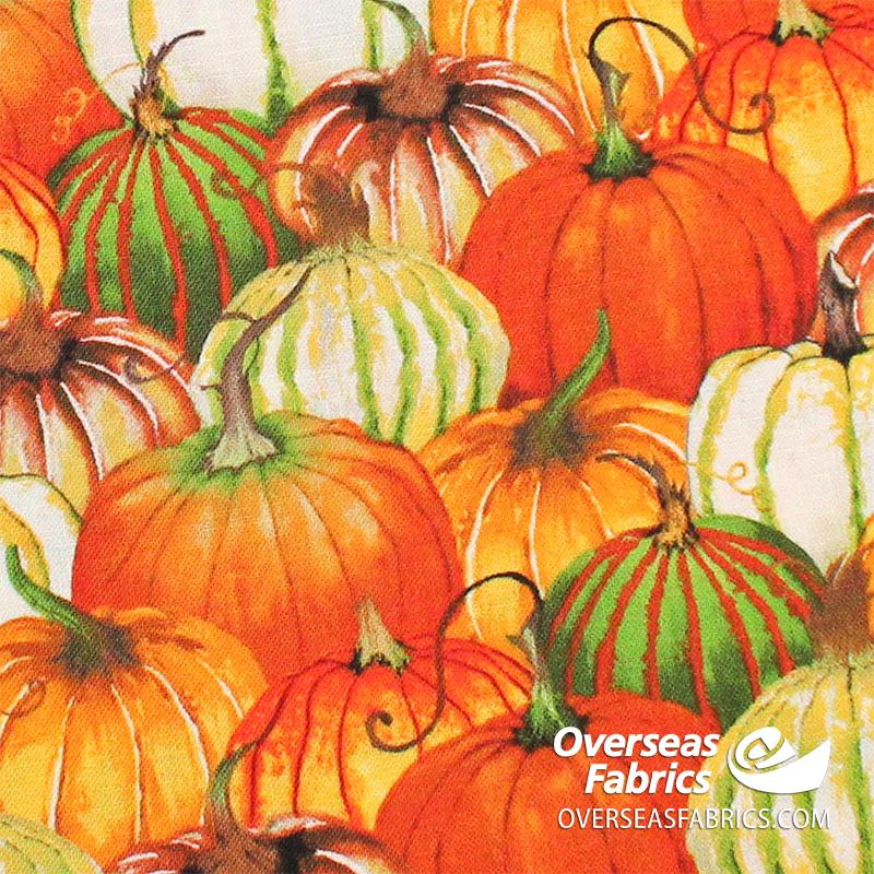 Blank Quilting - Fall Delight, Pumpkin Collage, Orange