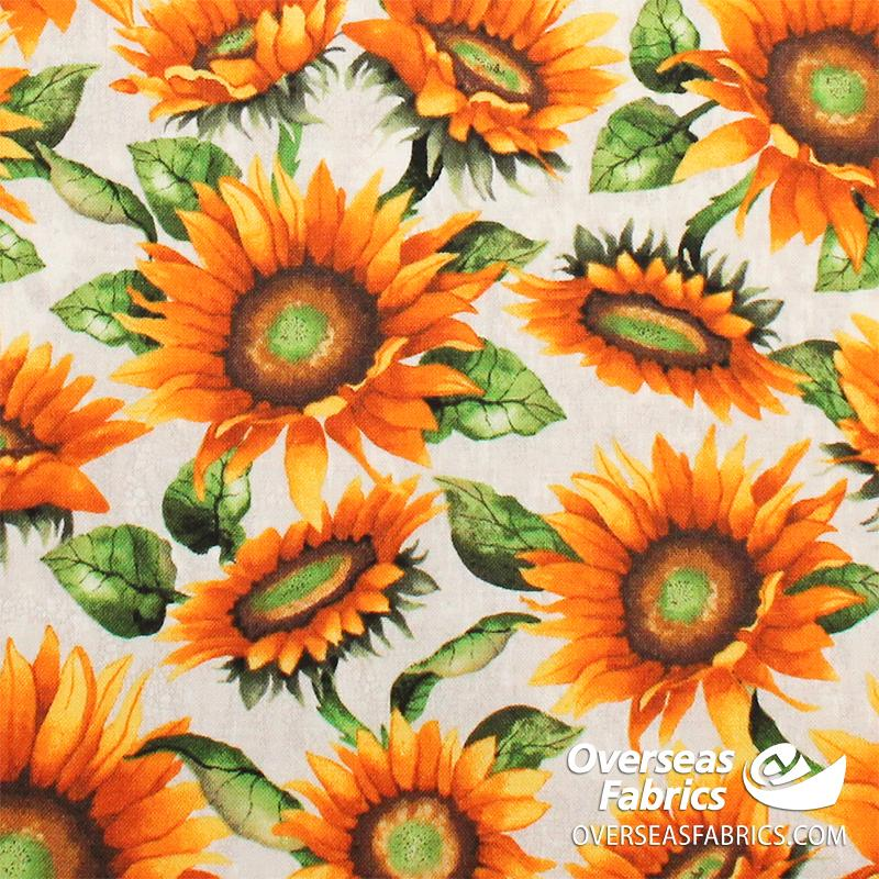 Blank Quilting - Fall Delight, Sunflowers, Yellow