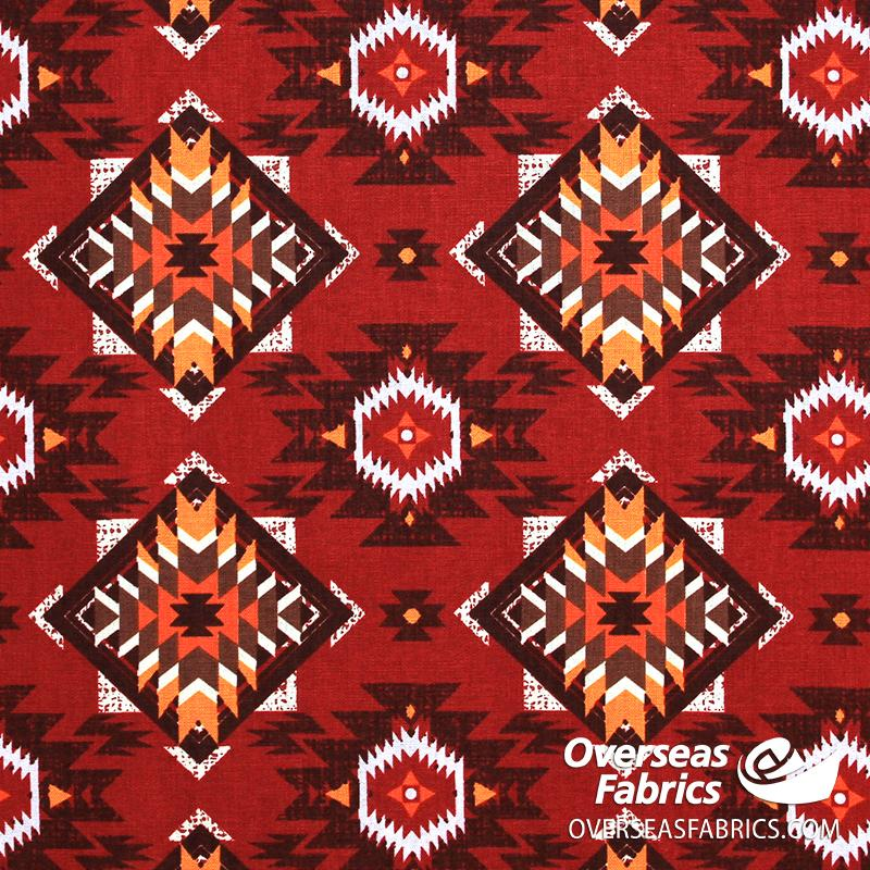 David Textiles - Northwest Territory, Native Horizon, Red