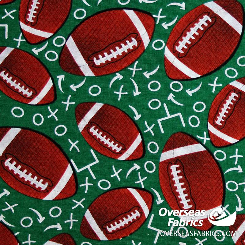 David Textiles - Game On, Football Play By Play, Green