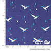 "Cotton-Lycra Knit 60"" - Seagulls"