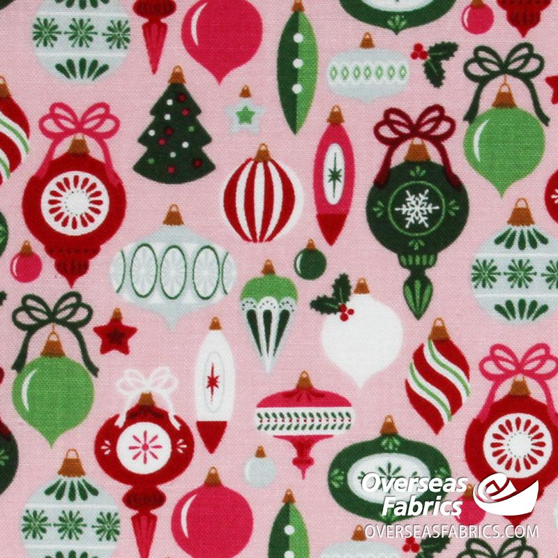 Riley Blake - Merry and Bright, Ornaments, Pink
