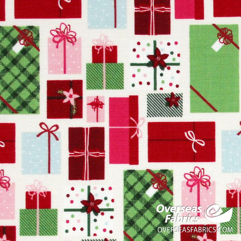 Riley Blake - Merry and Bright, Presents, Neutral