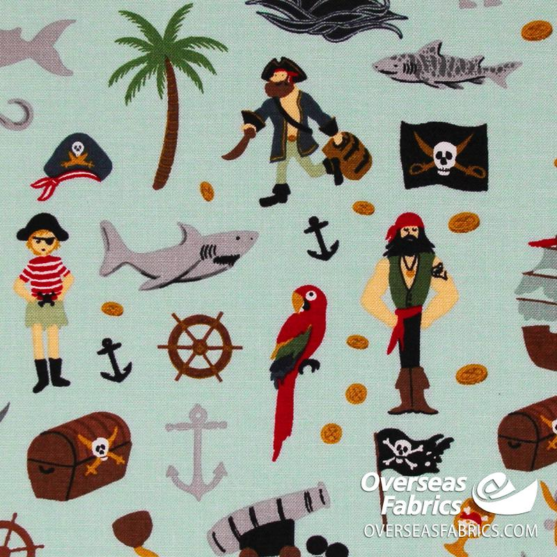 Riley Blake - Pirate Tales, Scatter, Blue