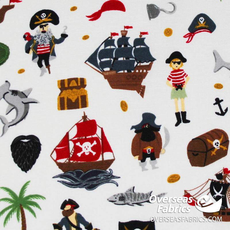 Riley Blake - Pirate Tales, Scatter, Neutral