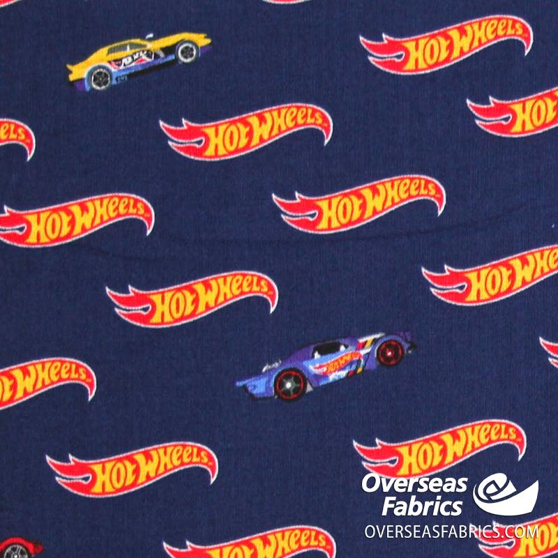 Riley Blake - Hot Wheels, Logo, Blue