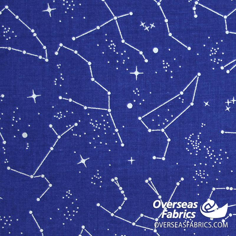 Riley Blake - Out Of This World NASA, Constellations, Blue (Metallic)