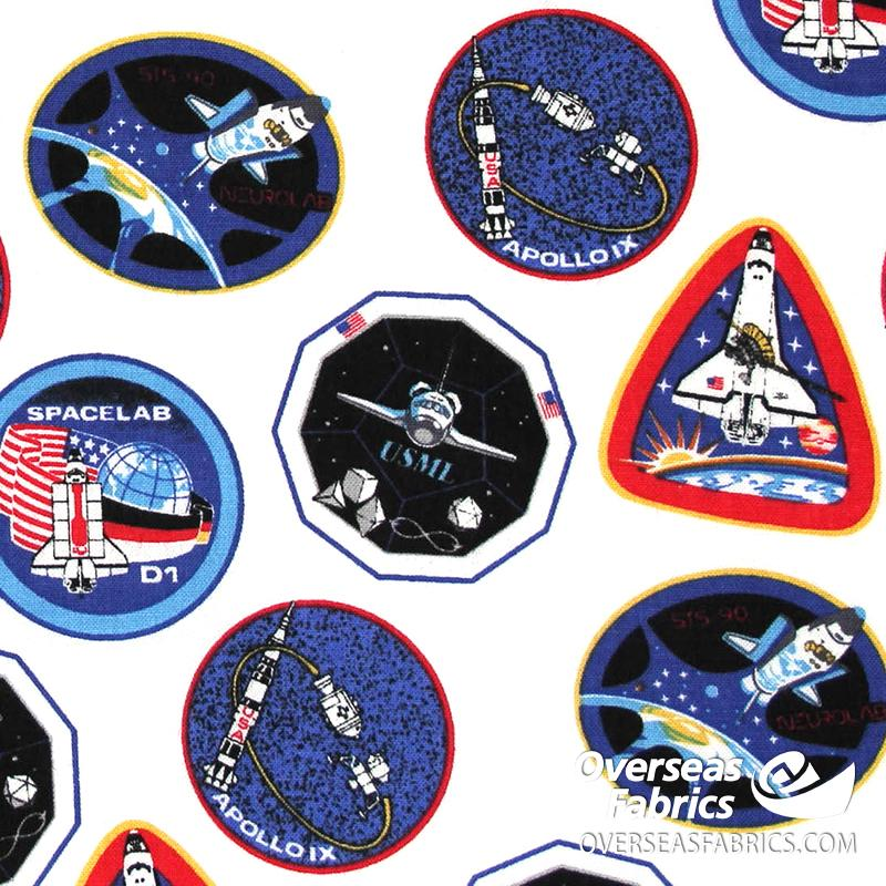 Riley Blake - Out Of This World NASA, Patches, White