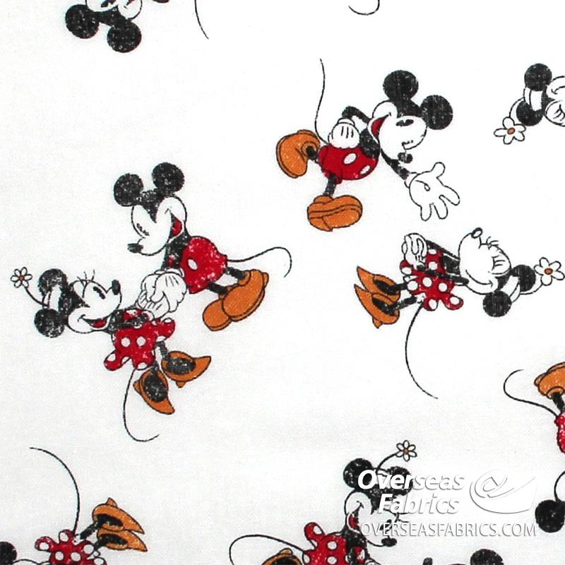 Springs Creative - Disney, Mickey Minnie Scattered, White
