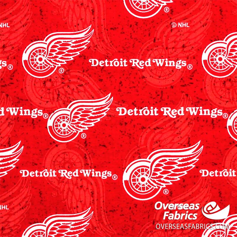 NHL Quilting Cotton - Detroit Red Wings, Red 1199